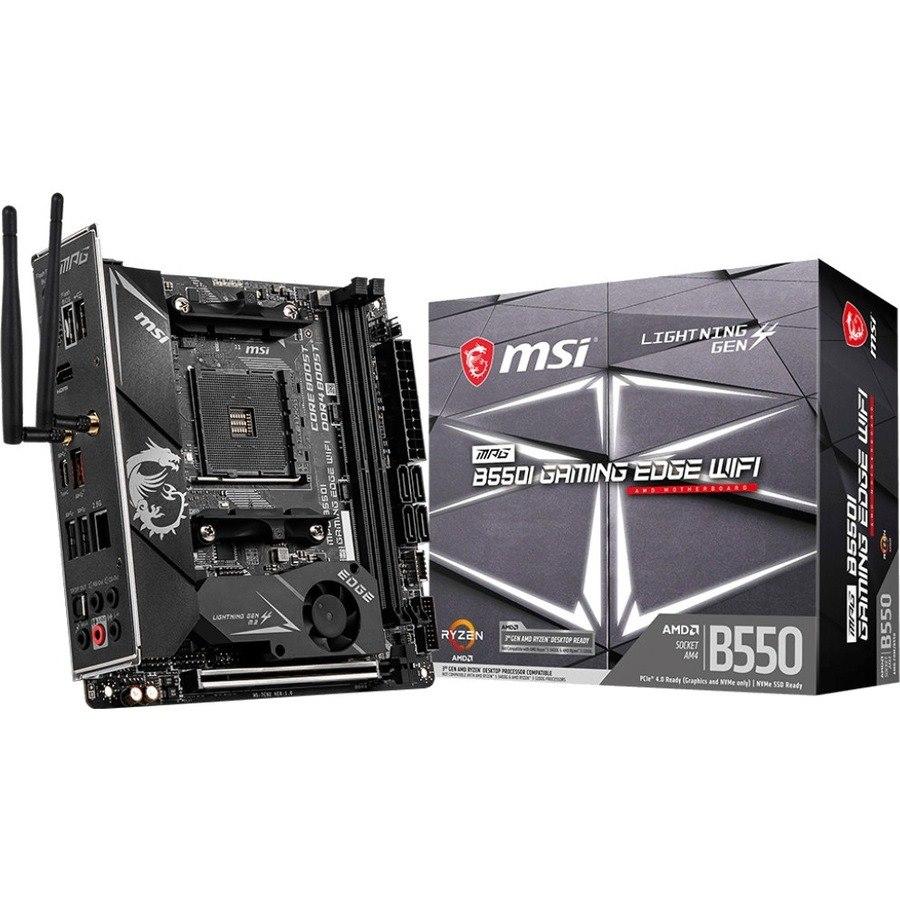 MSI MPG B550I GAMING EDGE WIFI Desktop Motherboard - AMD Chipset - Socket AM4