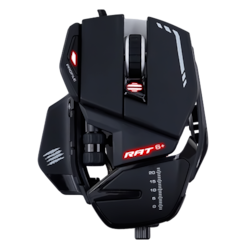 Mad Catz R.A.T. 6+ Gaming Mouse - USB 2.0 - PixArt PMW3360 - Black