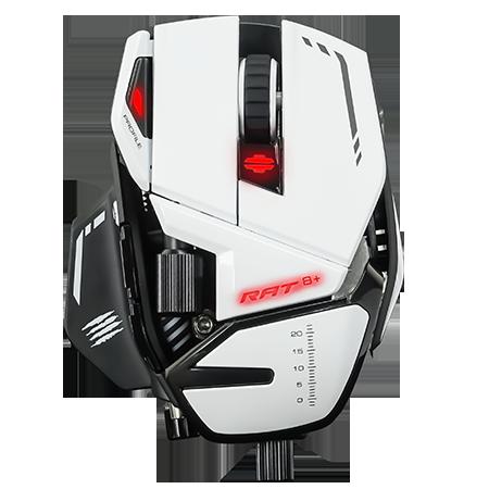 Mad Catz R.A.T. 8+ Gaming Mouse - USB 2.0 - Pixart 3389 - Black