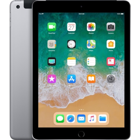 "Apple iPad Tablet - 24.6 cm (9.7"") - Apple A10 - ARM Hurricane Dual-core (2 Core) 2.34 GHz, TSMC Zephyr Dual-core (2 Core) - 32 GB - iOS 11 - 2048 x 1536 - Retina Display, In-plane Switching (IPS) Technology - 4G - GSM, CDMA2000 Supported - Space Gray"