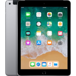 """Apple iPad Tablet - 24.6 cm (9.7"""") - Apple A10 - ARM Hurricane Dual-core (2 Core) 2.34 GHz, TSMC Zephyr Dual-core (2 Core) - 128 GB - iOS 11 - 2048 x 1536 - Retina Display, In-plane Switching (IPS) Technology - 4G - GSM, CDMA2000 Supported - Space Gray"""
