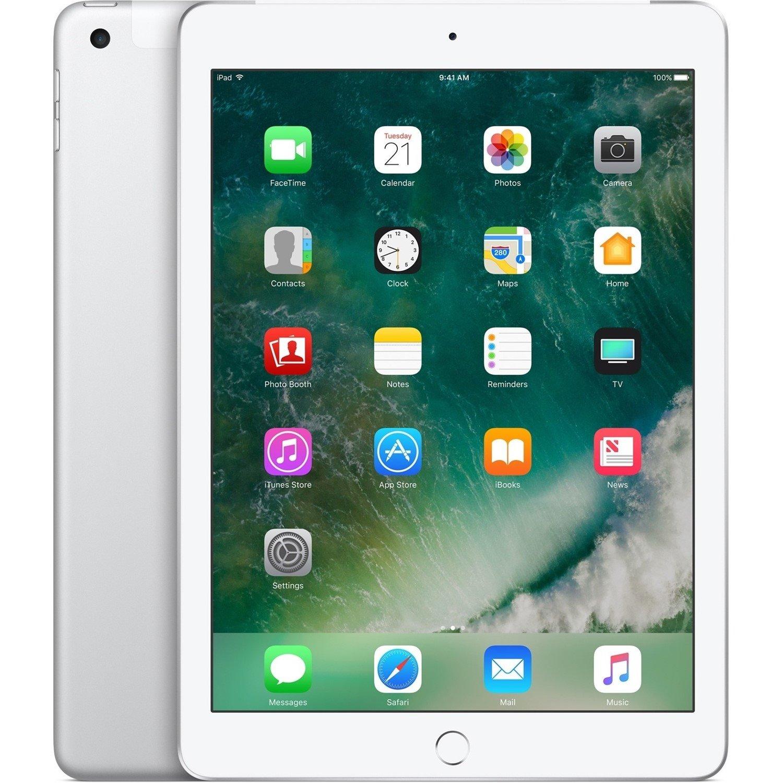 "Apple iPad Tablet - 24.6 cm (9.7"") - 128 GB Storage - iOS 11 - 4G - Silver"