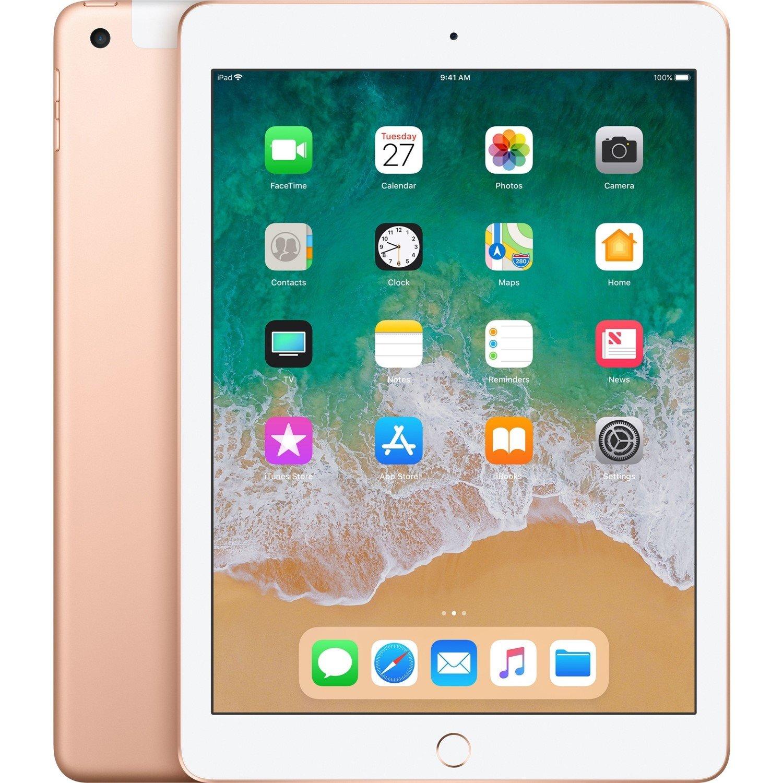 "Apple iPad Tablet - 24.6 cm (9.7"") - 128 GB Storage - iOS 11 - 4G - Gold"