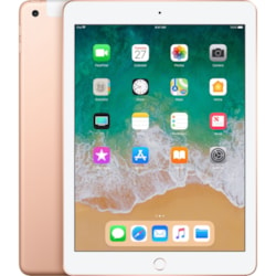 """Apple iPad Tablet - 24.6 cm (9.7"""") - Apple A10 - ARM Hurricane Dual-core (2 Core) 2.34 GHz, TSMC Zephyr Dual-core (2 Core) - 128 GB - iOS 11 - 2048 x 1536 - Retina Display, In-plane Switching (IPS) Technology - 4G - GSM, CDMA2000 Supported - Gold"""