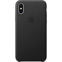 Apple Iphone XS Leather Case Black-Fae