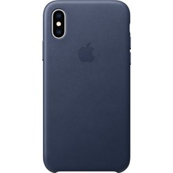 Apple Iphone XS Leather Case Midnight Blue-Fae