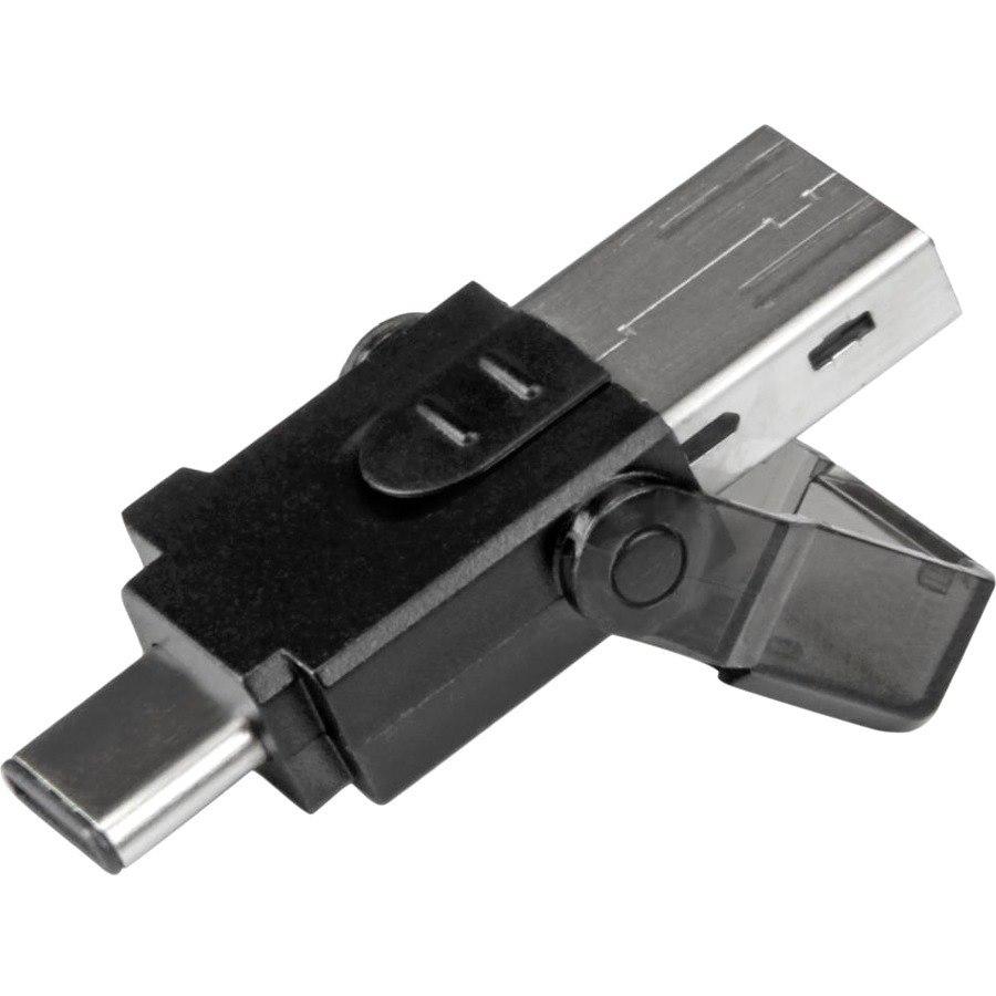 StarTech.com Flash Reader - USB Type A, USB Type C - External - 1 Pack