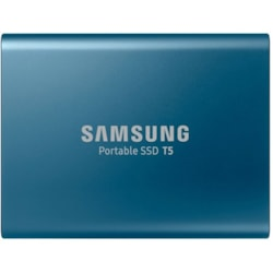 Samsung T5 250 GB Portable Solid State Drive - External - Blue