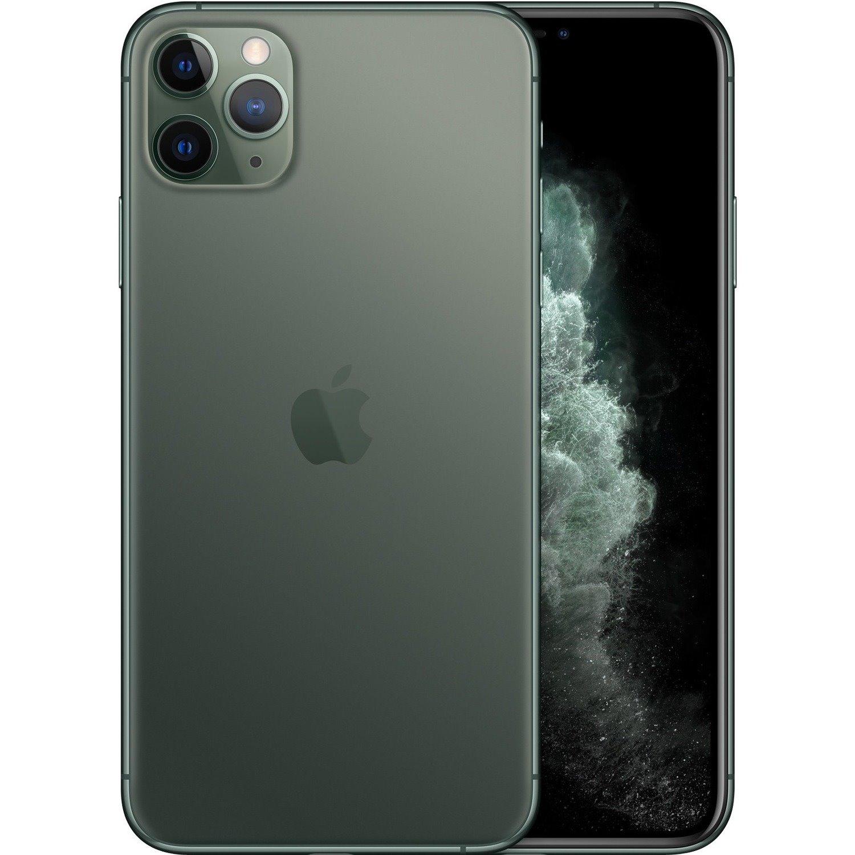 """Apple iPhone 11 Pro Max A2218 64 GB Smartphone - 16.5 cm (6.5"""") OLED Full HD Plus 2688 x 1242 - 4 GB RAM - iOS 13 - 4G - Midnight Green"""