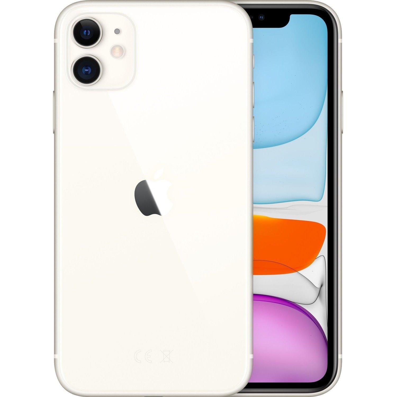 "Apple iPhone 11 A2221 64 GB Smartphone - 15.5 cm (6.1"") HD - 4 GB RAM - iOS 13 - 4G - White"