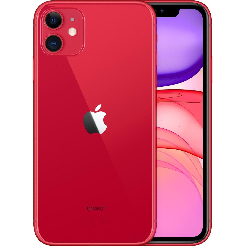 "Apple iPhone 11 A2221 64 GB Smartphone - 15.5 cm (6.1"") HD - 4 GB RAM - iOS 13 - 4G - Red"