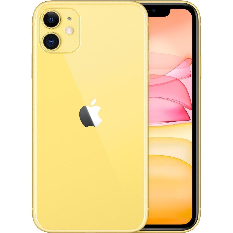 "Apple iPhone 11 A2221 128 GB Smartphone - 15.5 cm (6.1"") HD - 4 GB RAM - iOS 13 - 4G - Yellow"