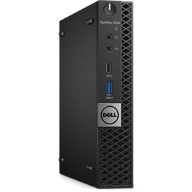 Dell OptiPlex 7050 Desktop Computer - Intel Core i5 (7th Gen) i5-7500T 2.70 GHz - 8 GB DDR4 SDRAM - 256 GB SSD - Windows 10 Pro 64-bit (English) - Micro PC