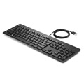 HP Slim Keyboard - Cable Connectivity - USB Interface - Black