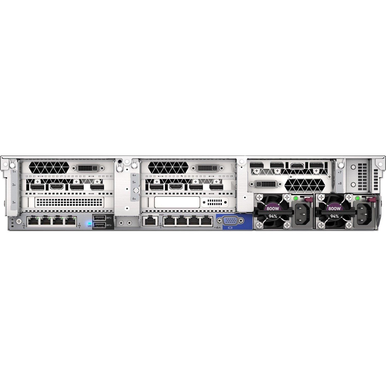 HPE ProLiant DL380 G10 2U Rack Server - 1 x Xeon Silver 4208 - 32 GB RAM HDD SSD - 12Gb/s SAS Controller