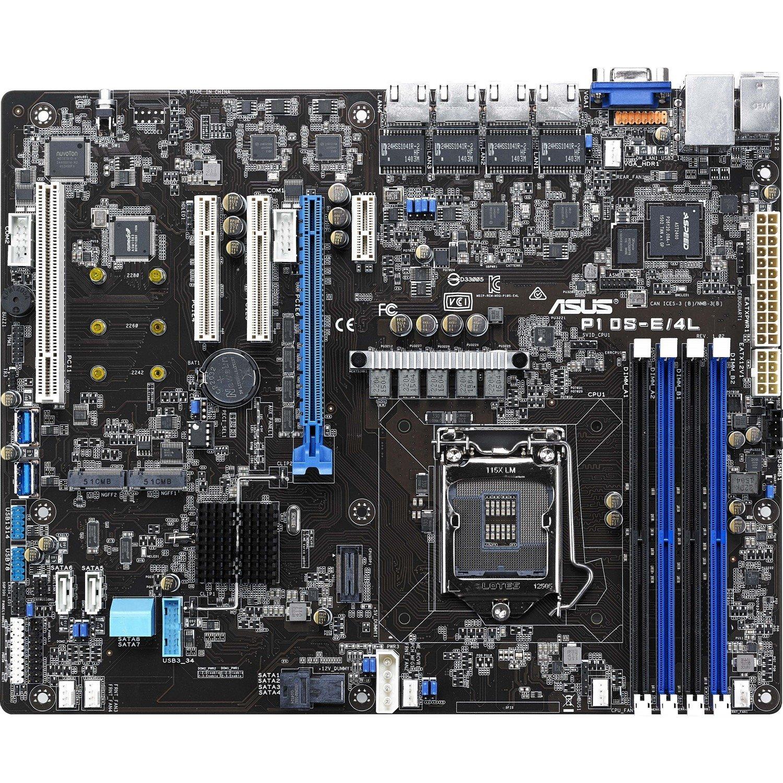 Asus P10S-E/4L Server Motherboard - Intel Chipset - Socket H4 LGA-1151