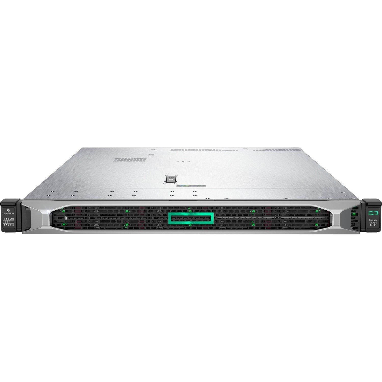 HPE ProLiant DL360 G10 1U Rack Server - 1 x Xeon Gold 5222 - 32 GB RAM HDD SSD - Serial ATA/600, 12Gb/s SAS Controller