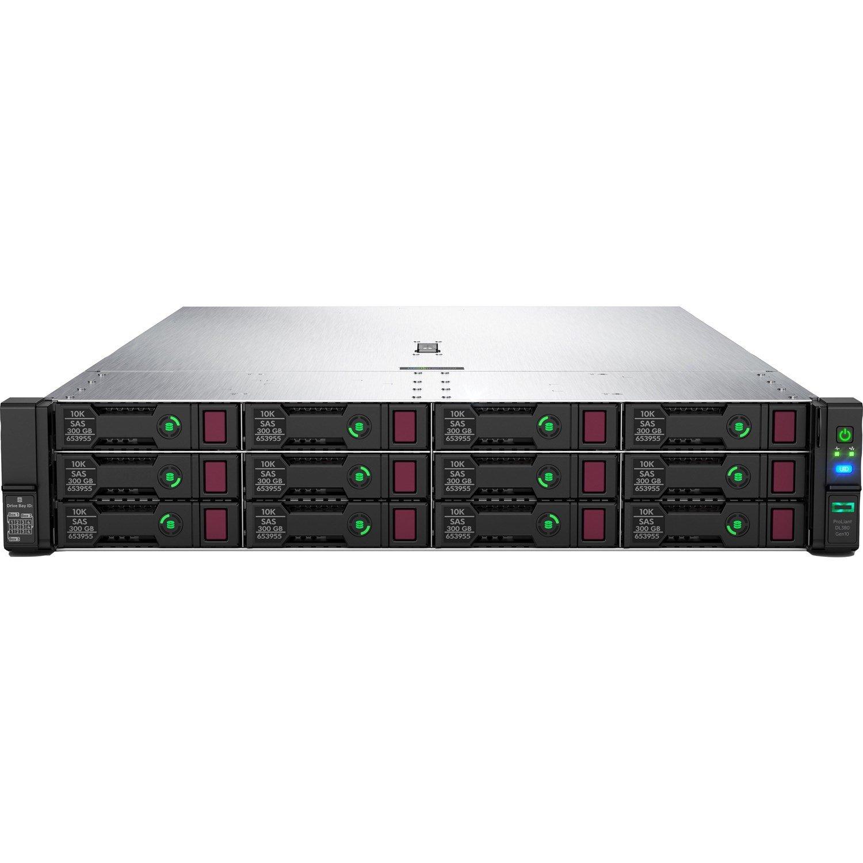 HPE ProLiant DL380 G10 2U Rack Server - 1 x Xeon Gold 5220 - 32 GB RAM HDD SSD - Serial ATA/600, 12Gb/s SAS Controller