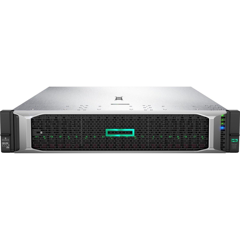 HPE ProLiant DL380 G10 2U Rack Server - 1 x Intel Xeon Silver 4210R 2.40 GHz - 32 GB RAM HDD SSD - Serial ATA/600, 12Gb/s SAS Controller