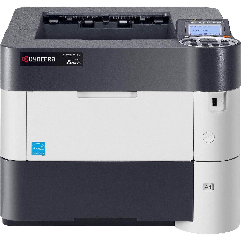 Kyocera Ecosys P3055dn Laser Printer - Monochrome - 1200 x 1200 dpi Print - Plain Paper Print - Desktop