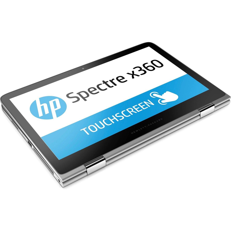 """HP Spectre x360 13-4100 13-4112tu 33.8 cm (13.3"""") LCD 2 in 1 Notebook - Intel Core i5 (6th Gen) i5-6200U Dual-core (2 Core) 2.30 GHz - 8 GB DDR3L SDRAM - 256 GB SSD - Windows 10 Home 64-bit - 1920 x 1080 - BrightView - Convertible - Natural Silver - Refurbished"""