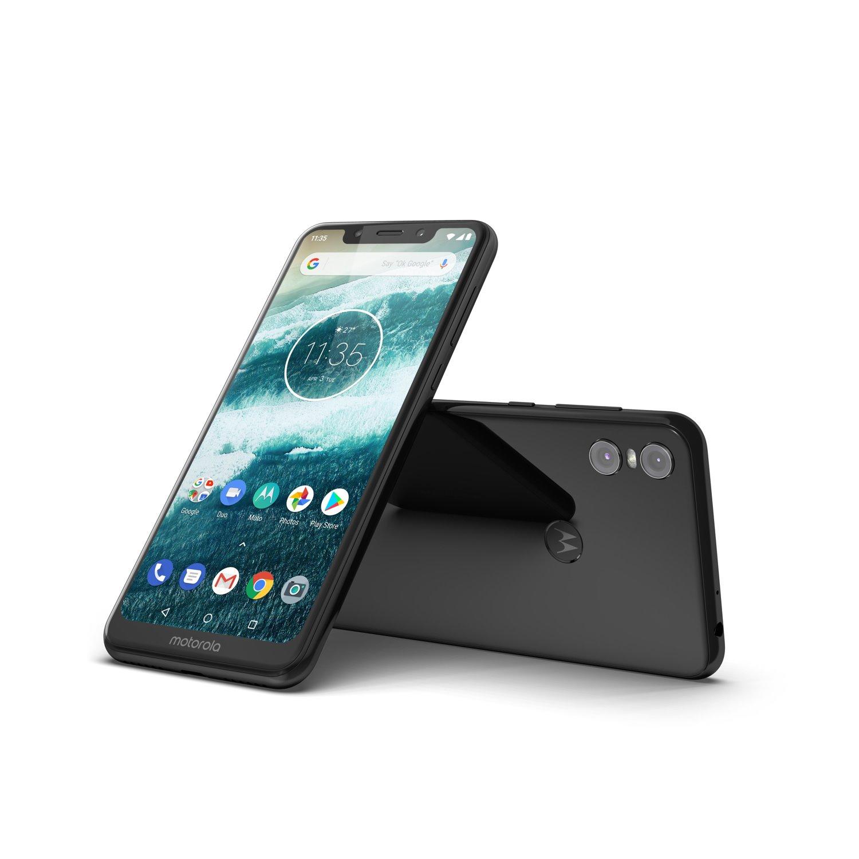 "Motorola One 64 GB Smartphone - 5.9"" LTPS LCD HD+ 720 x 1520 - 4 GB RAM - Android 9.0 Pie - 4G - Black"