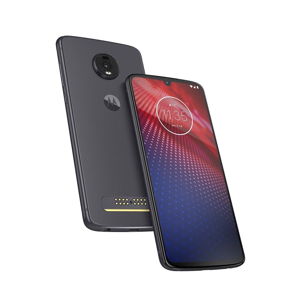 "Motorola Moto Z⁴ XT1980-3 128 GB Smartphone - 6.4"" OLED Full HD Plus 2340 x 1080 - 4 GB RAM - Android 9.0 Pie - 4G - Flash Gray"