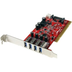 StarTech.com USB Adapter - PCI - Plug-in Card - Red