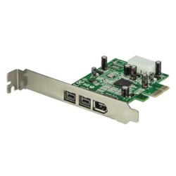 StarTech.com FireWire Adapter - PCI Express 1.1 x1 - Plug-in Card - TAA Compliant