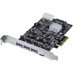StarTech.com USB Adapter - PCI Express x4 - Plug-in Card - TAA Compliant