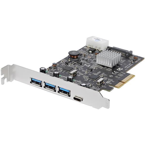 StarTech.com USB Adapter - PCI Express x4 - Plug-in Card - TAA Compliant
