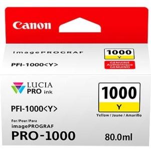 Canon LUCIA PRO PFI-1000 Y Original Ink Cartridge - Yellow