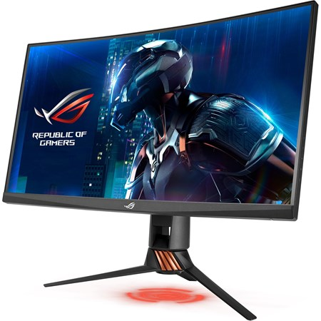 "Asus ROG Swift PG27VQ 68.6 cm (27"") WQHD Curved Screen LED Gaming LCD Monitor - 16:9 - Armor Titanium, Plasma Copper"