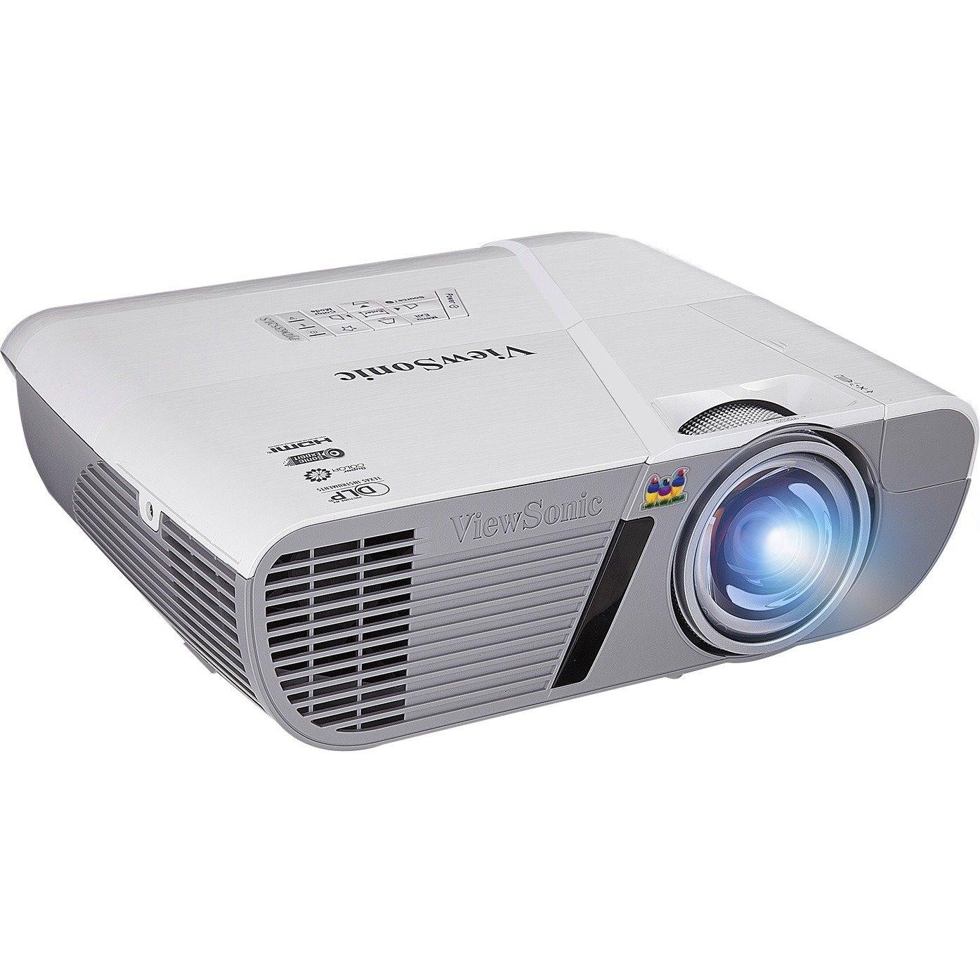Viewsonic LightStream PJD6552Lws 3D Ready Short Throw DLP Projector - 720p - HDTV - 16:10