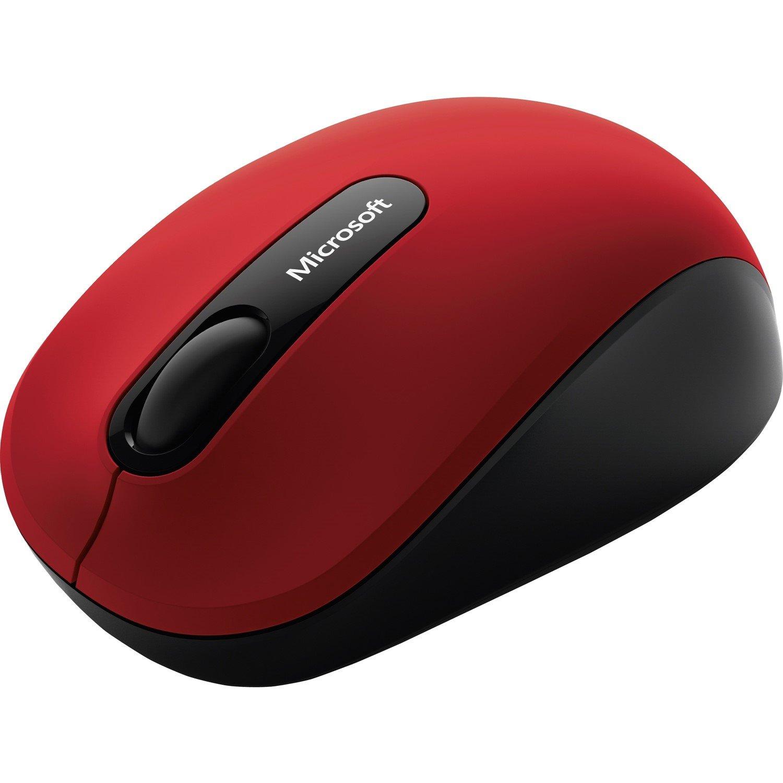 Microsoft 3600 Mouse - BlueTrack - Wireless - Dark Red