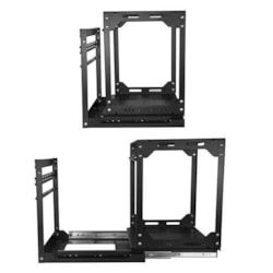 StarTech.com 12U Floor Standing Slide Out Rotating Rail System for Server, LAN Switch, Patch Panel - Black - TAA Compliant
