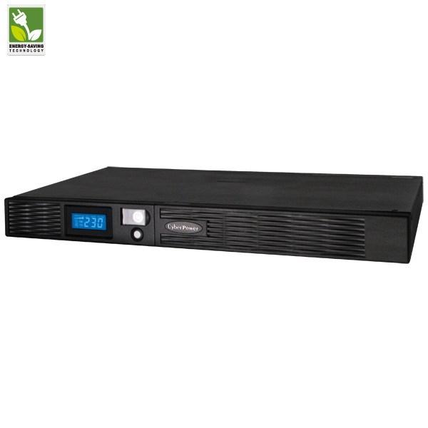 CyberPower Professional PR1000ELCDRT1U Line-interactive UPS - 1 kVA/670 W - 1U Rack/Tower