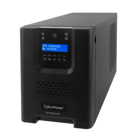 CyberPower Professional Tower PR1500ELCD Line-interactive UPS - 1.50 kVA/1.35 kW - Tower
