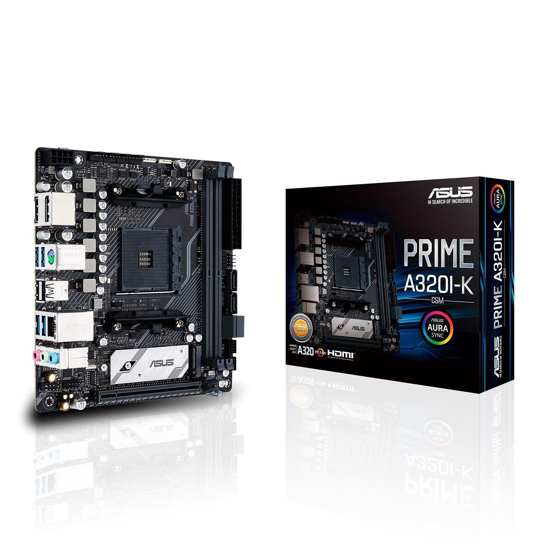 Asus Prime A320I-K/CSM Desktop Motherboard - AMD Chipset - Socket AM4