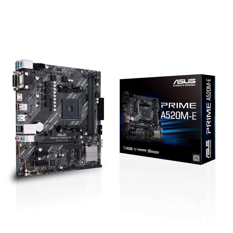 Asus Prime A520M-E Desktop Motherboard - AMD Chipset - Socket AM4