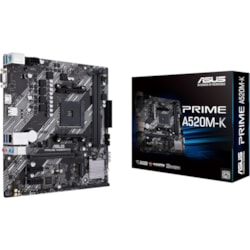 Asus Prime A520M-K Desktop Motherboard - AMD Chipset - Socket AM4