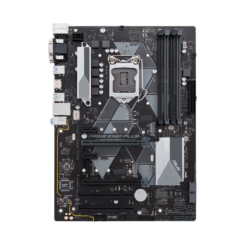 Asus Prime B360-PLUS/CSM Desktop Motherboard - Intel Chipset - Socket H4 LGA-1151