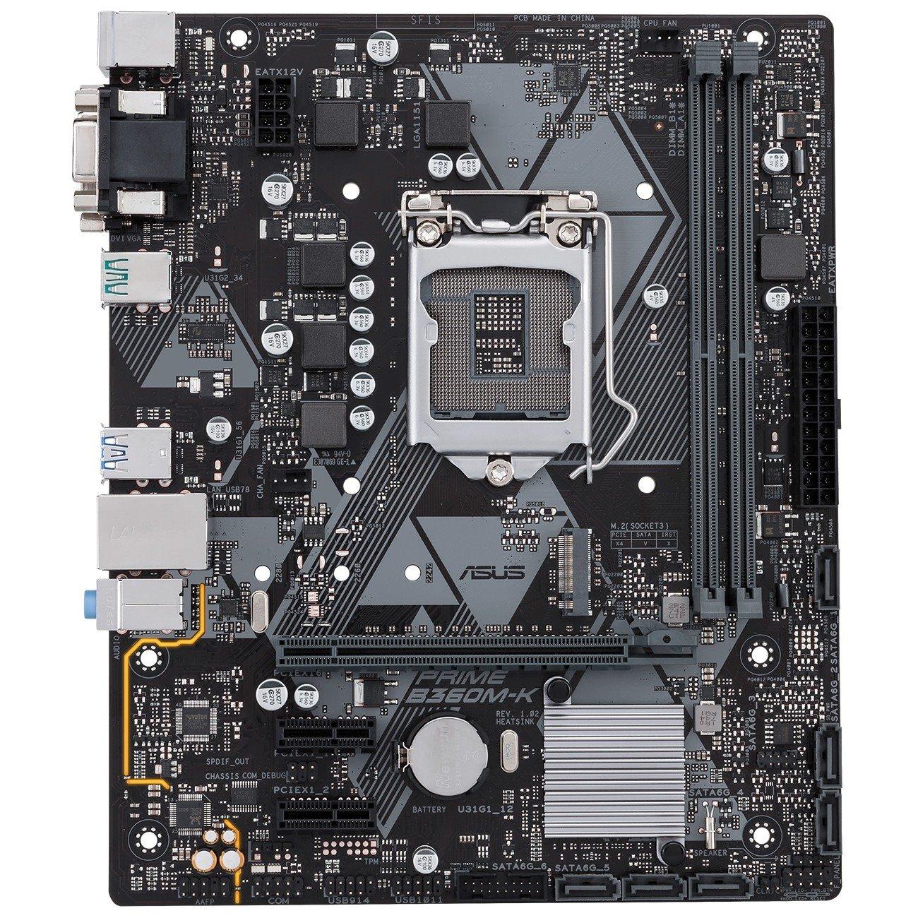 Asus Prime B360M-K Desktop Motherboard - Intel Chipset - Socket H4 LGA-1151