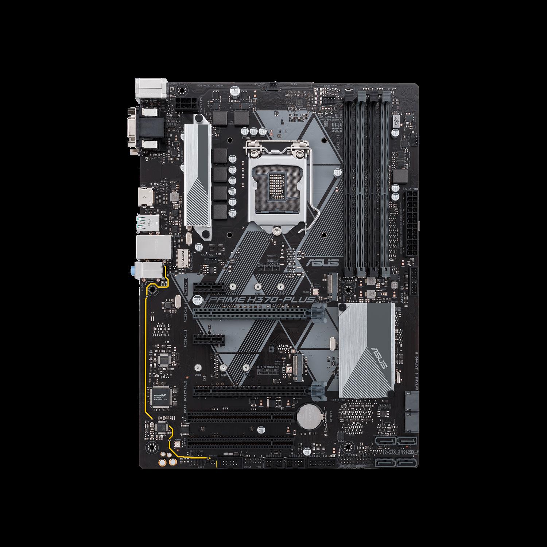 Asus Prime H370-PLUS/CSM Desktop Motherboard - Intel Chipset - Socket H4 LGA-1151