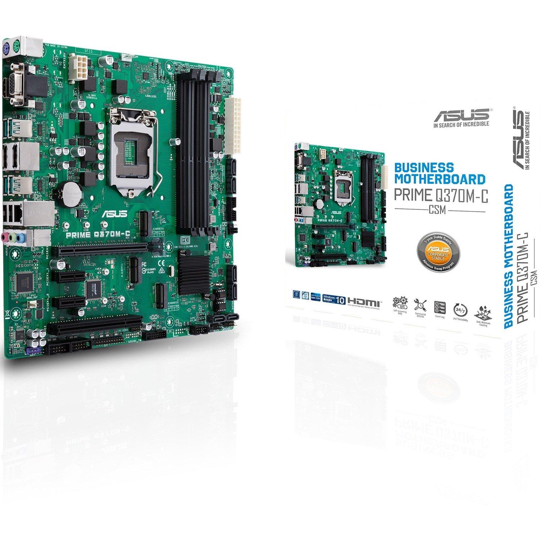 Asus Prime Q370M-C/CSM Desktop Motherboard - Intel Chipset - Socket H4 LGA-1151