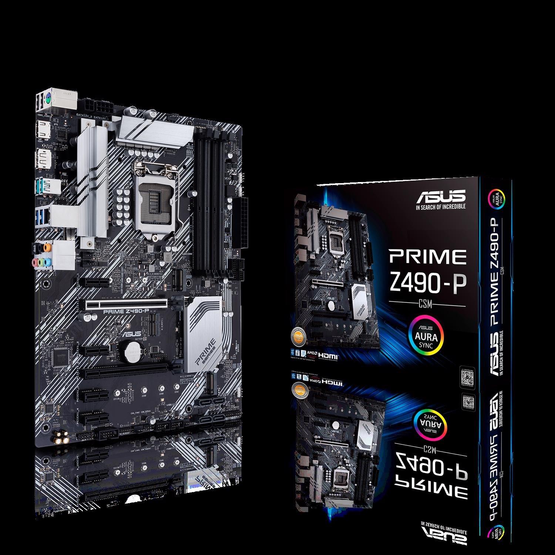 Asus Prime Z490-P/CSM Desktop Motherboard - Intel Chipset - Socket LGA-1200 - Intel Optane Memory Ready - ATX