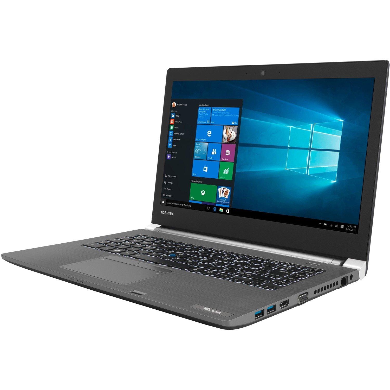 "Toshiba Tecra A40-C 35.6 cm (14"") Notebook - Intel Core i7 (6th Gen) i7-6600U Dual-core (2 Core) 2.60 GHz - 8 GB DDR3L SDRAM - 500 GB HDD - Windows 10 Pro 64-bit - 1366 x 768 - Black"