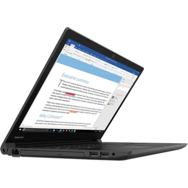 "Toshiba Tecra C50 39.6 cm (15.6"") LCD Notebook - Intel Core i5 (8th Gen) i5-8250U Quad-core (4 Core) 1.60 GHz - 8 GB - 256 GB SSD - Windows 10 Pro - 1366 x 768 - Genchaku Black"