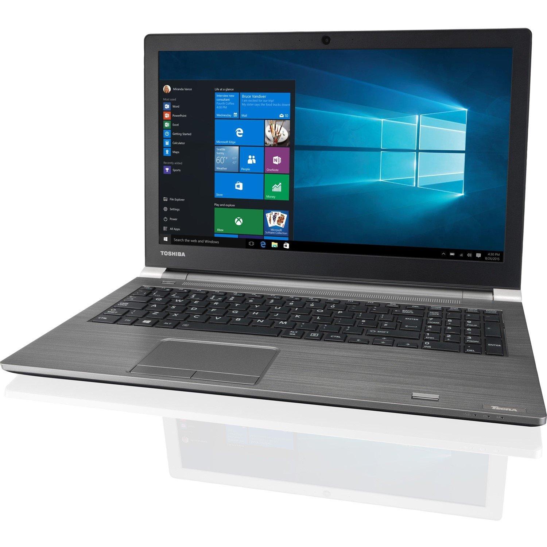 "Toshiba Tecra A50-E 39.6 cm (15.6"") LCD Notebook - Intel Core i7 (8th Gen) i7-8550U Quad-core (4 Core) 1.80 GHz - 8 GB - 256 GB SSD - Windows 10 Pro - 1366 x 768 - Genchaku Black, Silver Metal"