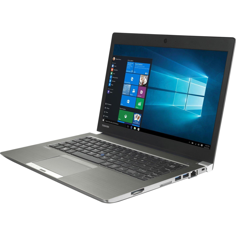 "Toshiba Portege Z30-C 33.8 cm (13.3"") Ultrabook - Intel Core i5 (6th Gen) i5-6200U Dual-core (2 Core) 2.30 GHz - 8 GB DDR3L SDRAM - 128 GB SSD - Windows 10 Pro 64-bit - 1366 x 768 - Cosmo Silver with Hairline"